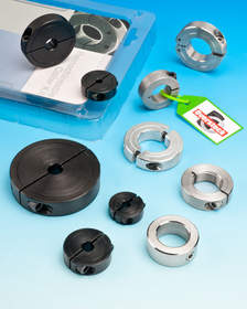 Remachineable shaft collars and overstock parts facilitate maintenance