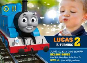 Simply To Impress Announces The New Thomas FriendsTM Birthday - Birthday invitation card thomas and friends