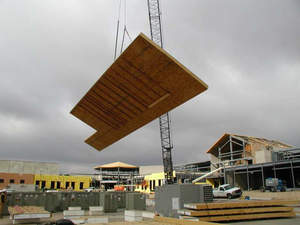 Structural Insulated Panel is placed at the Weld County Middle School in Colorado.