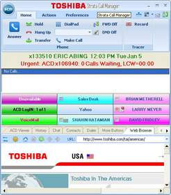 Toshiba's new Call Manager version 7.5