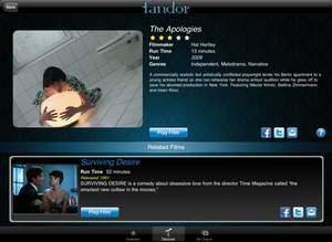 The Apologies on Fandor's iPad app