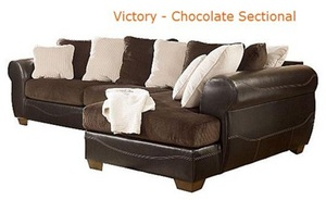 The Victory Chocolate Sectional from Ashley Furniture HomeStore
