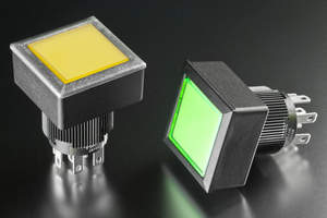 NKK Switches' new YB2 Series of  24mm square, flush mount and tamperproof panel seal pushbutton switches are ideal for applications requiring a low-profile, yet secure and splash proof design.