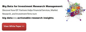 Big Data for Investment Research Management. IDT Partners Research Management Systems.