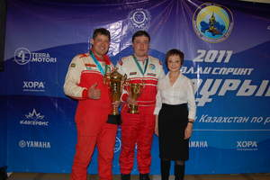 Champions of the professional winter auto rally sprint, Samuryk, Kazakhstan 2011 and Practice HORA
