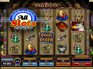 Great Griffin video slot at All Slots Casino