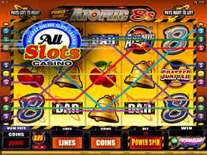 Power Spins - Atomic 8s at All Slots Casino