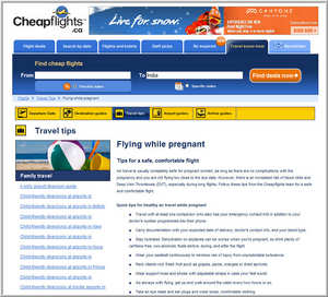 Cheapflights.ca's Flying While Pregnant Tips
