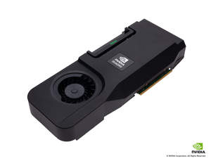 The new NVIDIA Quadro discrete GPU for All-In-One workstations (stand alone 3 qtr card shot)