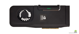 The new NVIDIA Quadro discrete GPU for All-In-One workstations (stand alone overhead card shot)