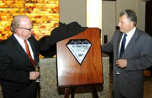 Ian Robinson, vice president and general manager, Fairmont Mayakoba and Tony Perrone, Manager of AAA
