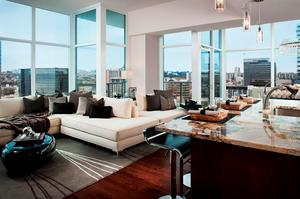 Sapphire Tower's winning model is a two bed-room floor plan with 1,283 square feet.