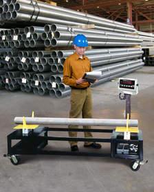 Custom fabricated portable rack scales