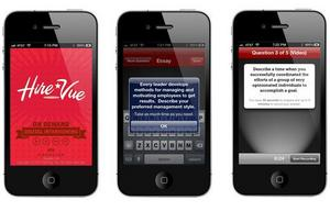 HireVue App for iPhone