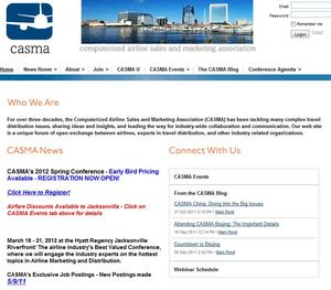 Home page of CASMA.org, which is hosting its latest agenda-setting event March 18-21 in Jacksonville
