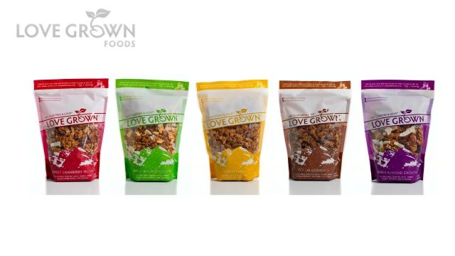love grown foods, natural products, gluten-free snack, healthy granola, food, grown with love