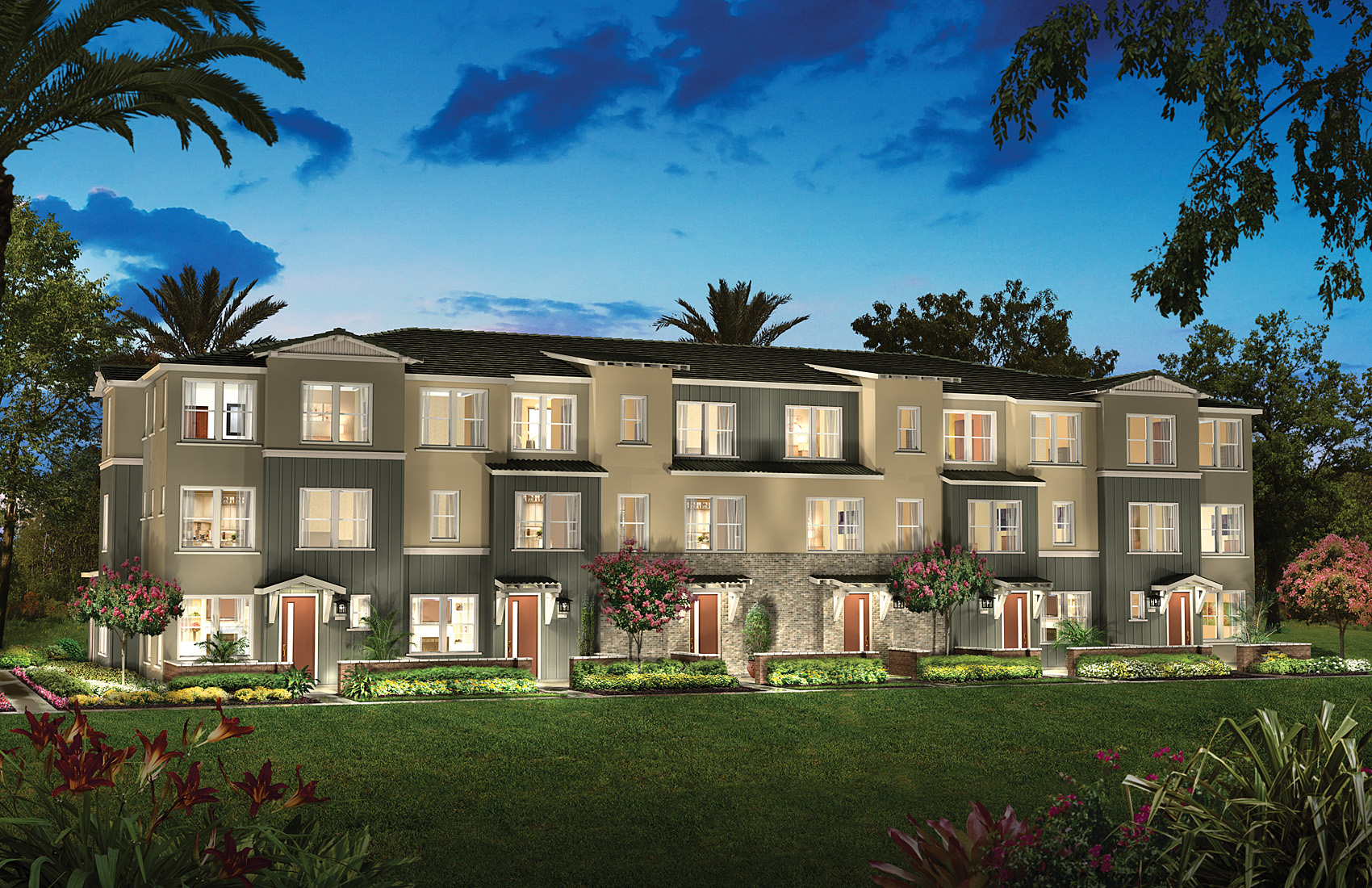 row-home-style residences, Encore, Shea Homes, Aliso Viejo, real estate, new homes,homebuilder,