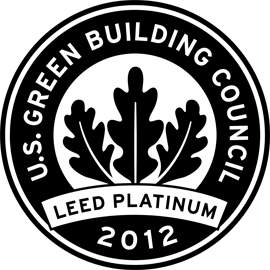 Hearst Tower achieves LEED Platinum, the highest possible rating for sustainable building operations and best maintenance practices.