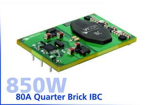 Vicor Introduces 850W, 80A Quarter Brick IBC