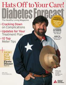 Diabetes Forecast cover, April 2012
