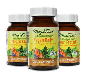 MegaFood's certified vegan collection of whole food supplements