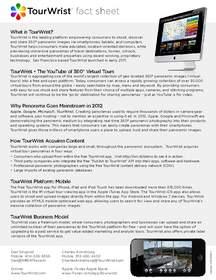 TourWrist Fact Sheet