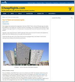 Cheapflights.com's Top 10 Titanic Anniversary Sights