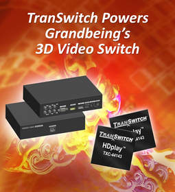 TXC44143, TranSwitch, video switch, 3D video