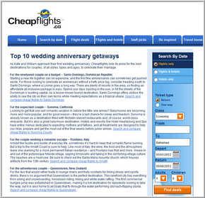 Cheapflights.ca Top 10 Wedding Anniversary Getaways