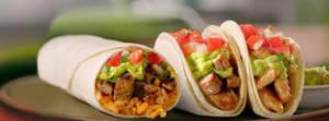 Del Taco Carne Asada Burrito and Asada Tacos