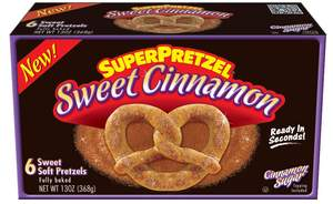 Snacking Made Sweet With New SUPERPRETZEL(R) Sweet Cinnamon