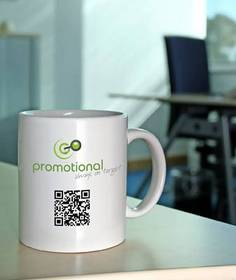 GoPromotional mug with QR code