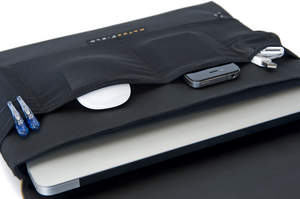 The CitySlicker for MacBook Air - stretch pockets hold accessories.