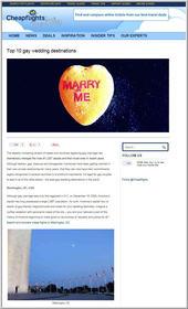 Cheapflights.com's Top 10 Gay Wedding Destinations
