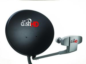 DISH's high-definition satellite antenna.