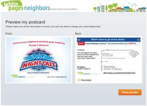 National Night Out, Neighbor Block Party