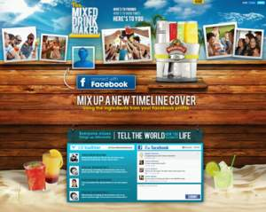 Margaritaville, landing page, mobile app, cocktails, Mixed Drink Maker, Facebook Timeline