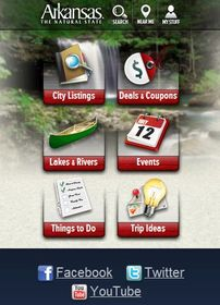 Arkansas Tourism mobile website