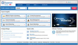Experian Hitwise client website