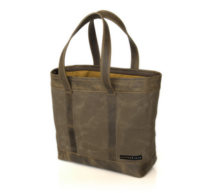 The WaterField Designs Outback Tote - 'Daily' size with leather trim in 'Grizzly