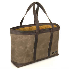 The WaterField Designs Outback Tote - 'Weekender' size with leather trim in 'Chocolate.'