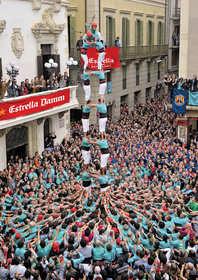 Castellers de Vilafranca Human Tower performance