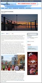 Screen shot,Cheapflights.com,Top 10 Beach Boardwalks,summer,July 4th,travel destinations,vacation
