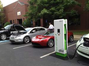 The Alternative Fuel Vehicle Road Show stopped in several Georgia cities, including Norcross.