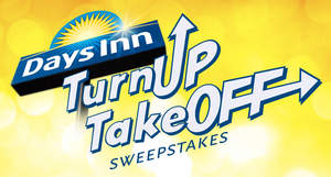 Days Inn Turn Up Take Off logo
