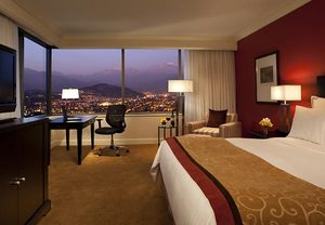 Entre los hoteles en Las Condes, el Santiago Marriott hotel cuenta con una vista privilegiada