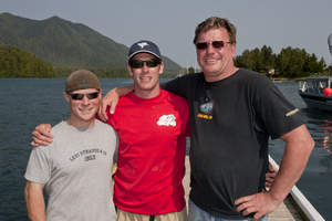 Tofino winners Lutz Zilliken and Billy McGinnis, founder and host NHL's Brendan Morrison