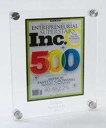 lucina acrylic plaques, custom plaques, business awards and recognition