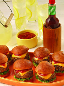 Sliders with Chipotle Ketchup