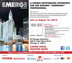 EMERGE Networking Series Hosted by Poder Hispanic Announces Next Stop: Chicago on August 16